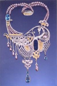 Indigo Swan Necklace
