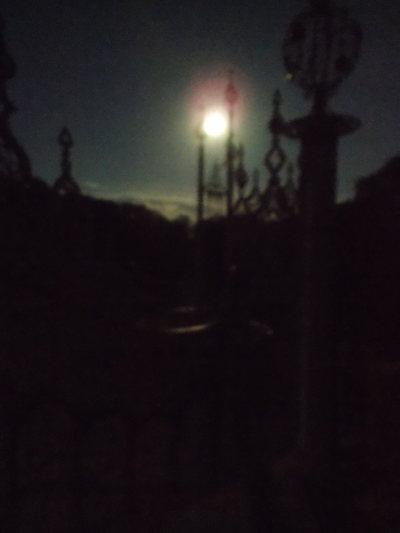 Queen Gate Spires by moonlight